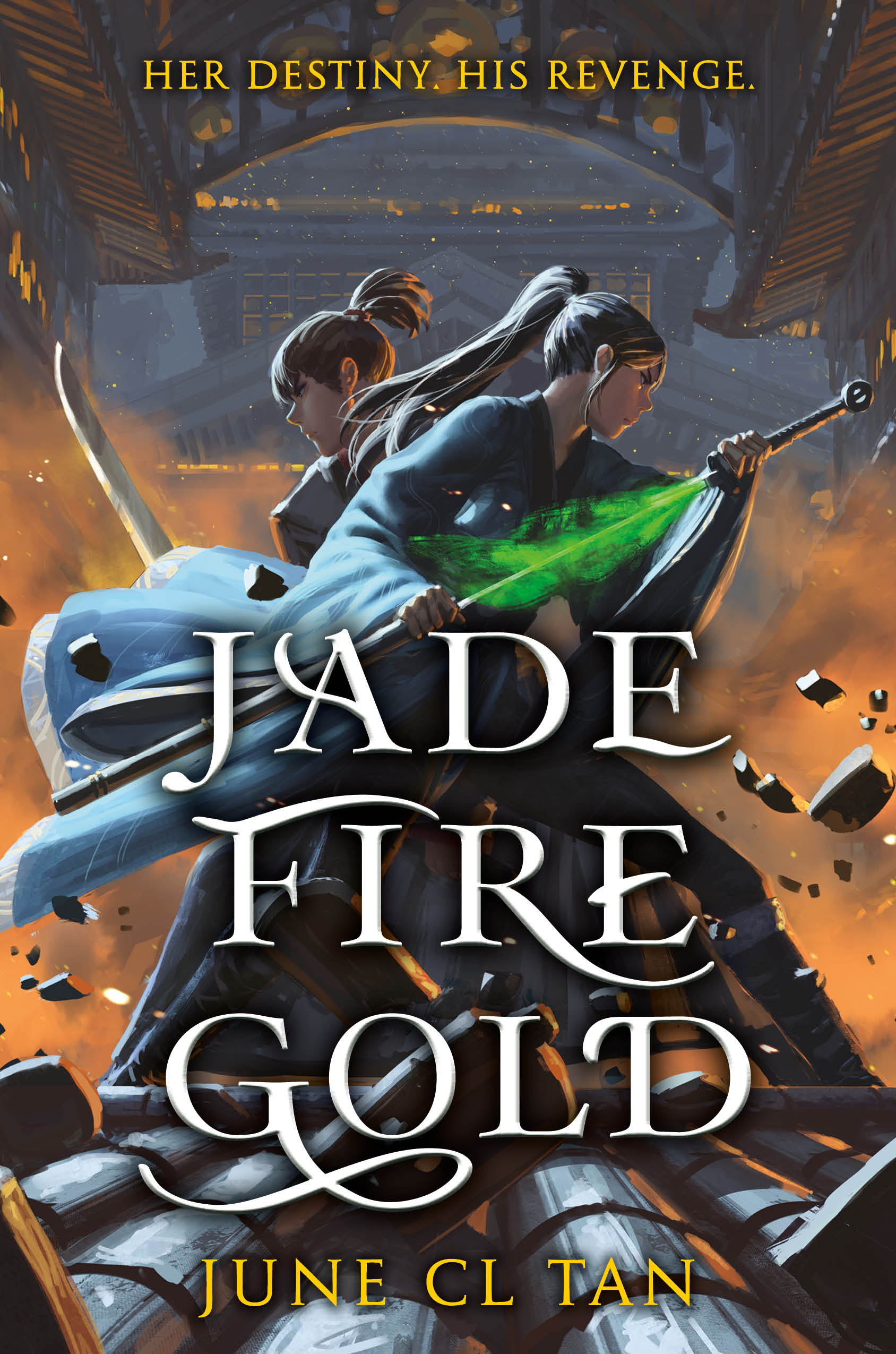 Jade Fire Gold by June CL Tan